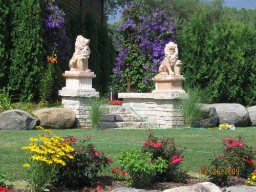 Stone Carved Lionss